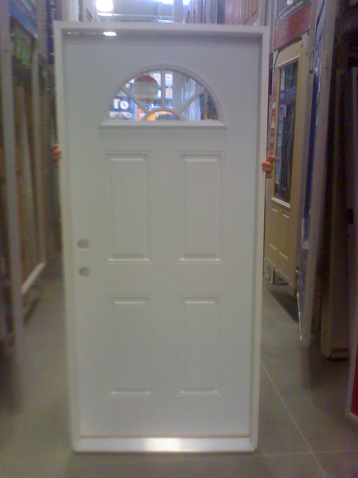 an entry door we were about to install