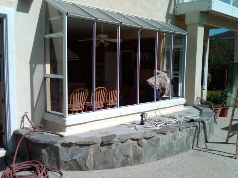 huge garden window pieced together before
